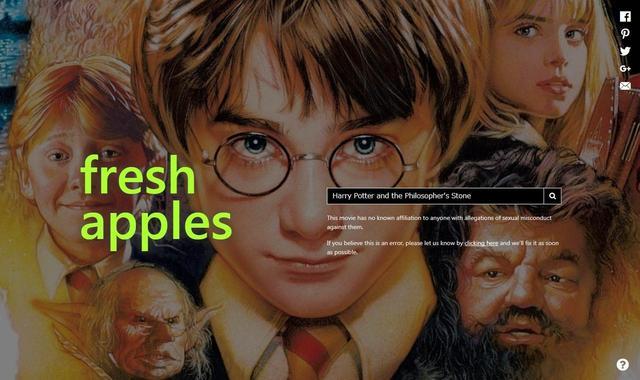 画像: みんな大好き『ハリー・ポッター』は、シリーズ全作品を通して「新鮮なリンゴ」を獲得。