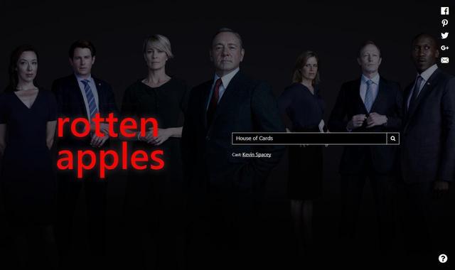 画像: Netflixで配信されている人気ドラマ『ハウス・オブ・カード』は、主演のケヴィン・スペイシーのセクハラ被害が発覚したため「腐ったリンゴ」の仲間入り。