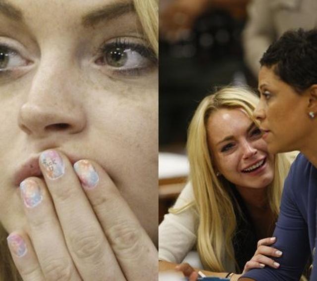 画像: 2010年には、保護観察違反の罪で90日の実刑を言い渡され裁判所で号泣。この日、ネイルに汚い言葉を描いて現れたことでも話題に。