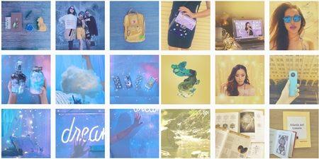 画像: ミシェルはだいたい9枚同じ色のものを投稿したら、次の色へ移行。 ©Michelle Phan
