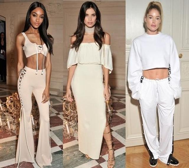 画像: 左から:モデルのジョーダン・ダン、サラ・サンパイオ、ドウツェン・クローズ。