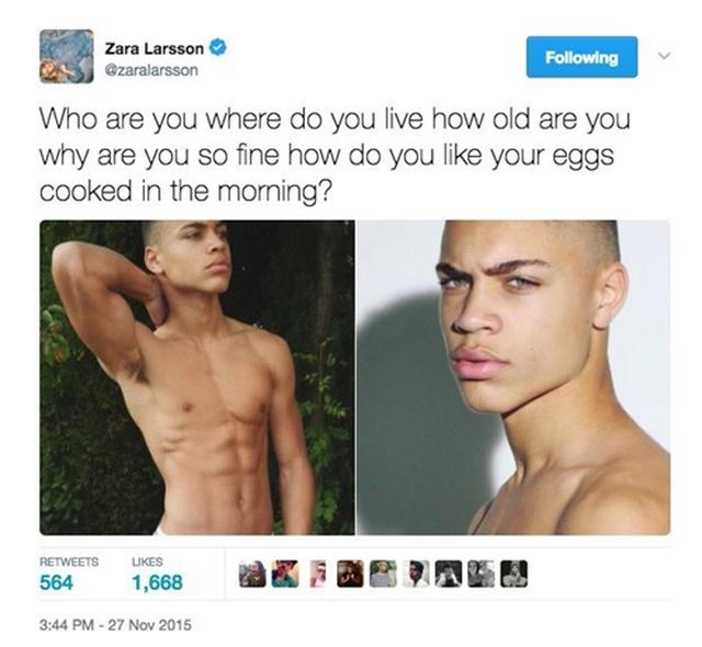 画像: 「あなたは誰、どこに住んでるの、歳はいくつ、なんでそんなにカッコいいの、朝食の卵はどう調理されているのがいい?」