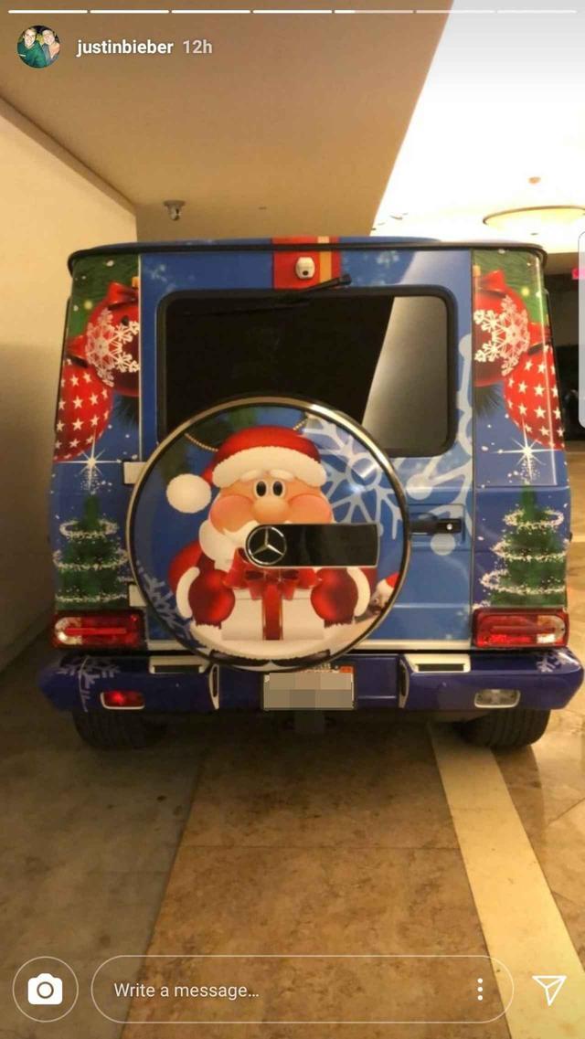 画像: ジャスティン・ビーバー、最低1,900万円する愛車をクリスマス仕様に大改造