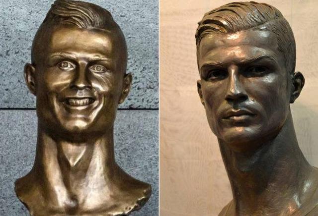 画像4: 酷評されたクリスティアーノ・ロナウド像、新しい銅像の出来栄えは?