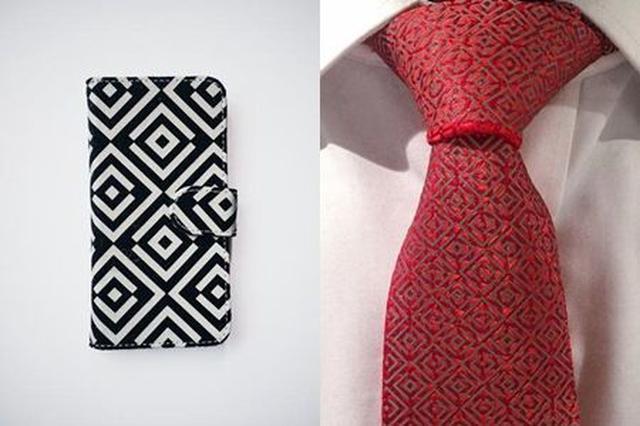 画像: スマホ や ネクタイ 版も販売している。