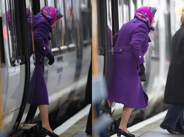 画像1: 激写!英エリザベス女王、一般人と同じ公共交通機関で年末休暇先へ