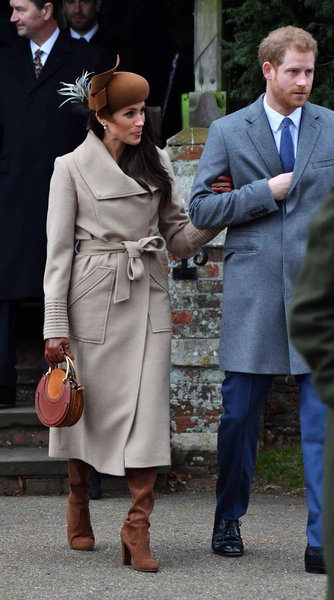 画像2: キャサリン妃とのショットも!ヘンリー王子の婚約者メーガン、英王室の恒例行事に参加