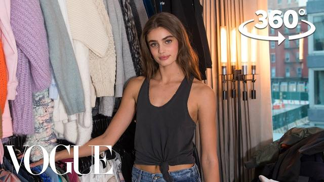 画像: Taylor Hill Takes You on a 360° Tour of Her Closet | Supermodel Closets | Vogue www.youtube.com
