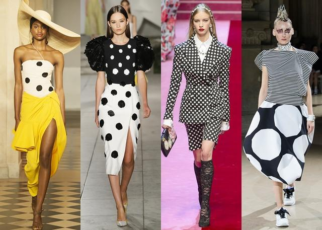 画像: 左から:Jacquemus, Carolina Herrera, Dolce & Gabbana, Junya Watanabe