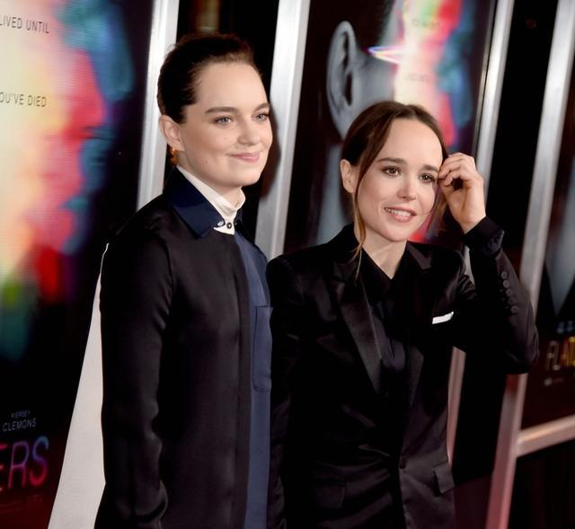 画像: 左から:ダンサーのエマ・ポートナー、女優のエレン・ペイジ。
