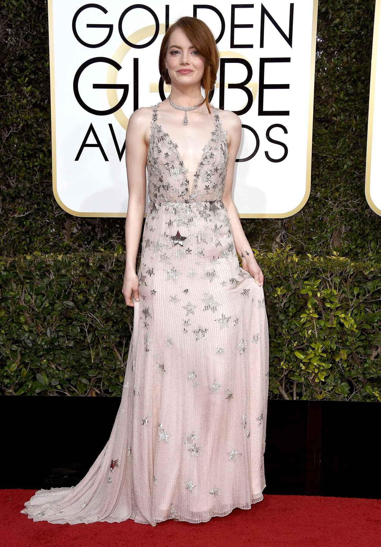 画像: 昨年、日本でも大ヒットした映画『ラ・ラ・ランド』でアカデミー賞主演女優賞、及びゴールデン・グローブ賞主演女優賞を受賞した女優のエマ・ストーン。