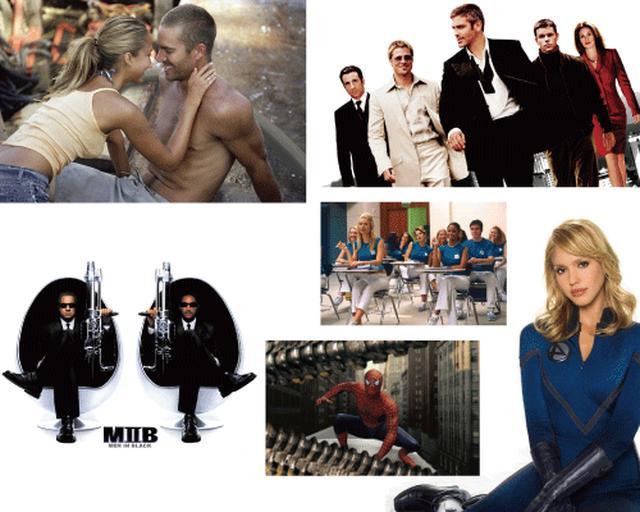 画像: ハミルトンが使用された大作ハリウッド映画の数々。オーシャンズ11、イントゥ・ザ・ブルー、メン・イン・ブラック、ファンタスティック・フォー、スパイダーマン2、ハッピー・フライト。