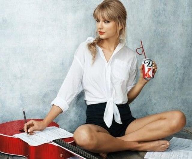 画像: コカ・コーラ社のダイエットコークの広告。