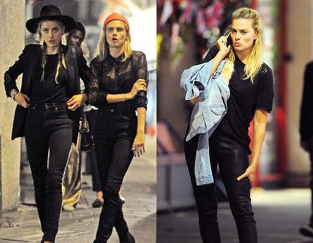 画像: 一方、先週末ロンドンに滞在していたアンバーは、映画『スーサイド・スクワッド』の女優マーゴット・ロビー、モデルのカーラ・デルヴィーニュらの友人たちと楽しい一夜を過ごしていた。