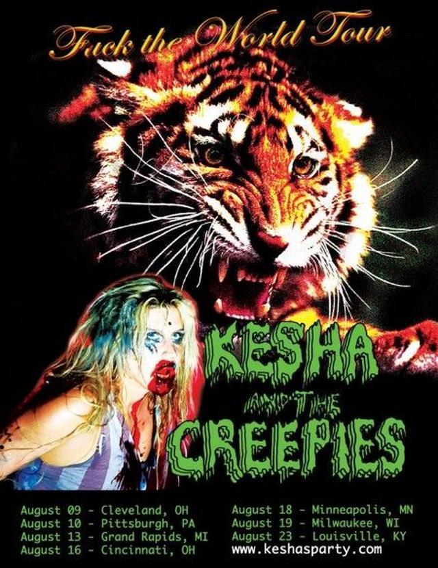 画像: ケシャが自身のSNSにアップした、ツアーの告知画像。