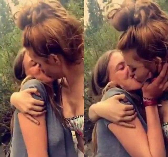 画像: ファンが投稿した、ベラのキス写真。