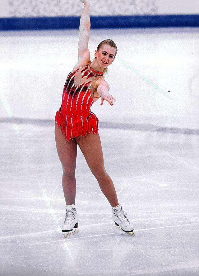 画像: 1994年リレハンメル・オリンピックでのトーニャ・ハーディング。