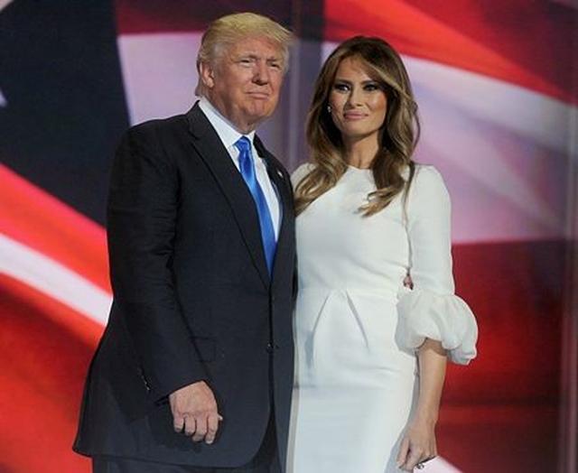 画像: トランプ氏とメラニア夫人。