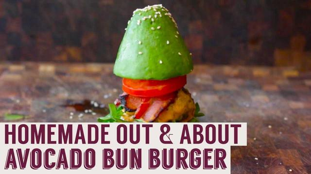 画像: Avocado Bun Burger | Homemade Out & About youtu.be
