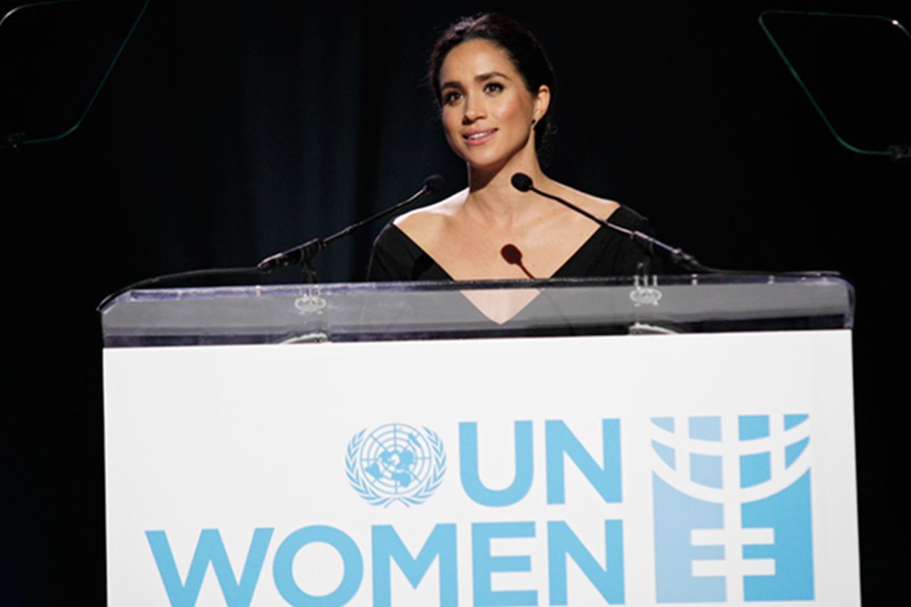 画像: 過去に開かれたUN Womenのイベントでスピーチを行ったメーガン。