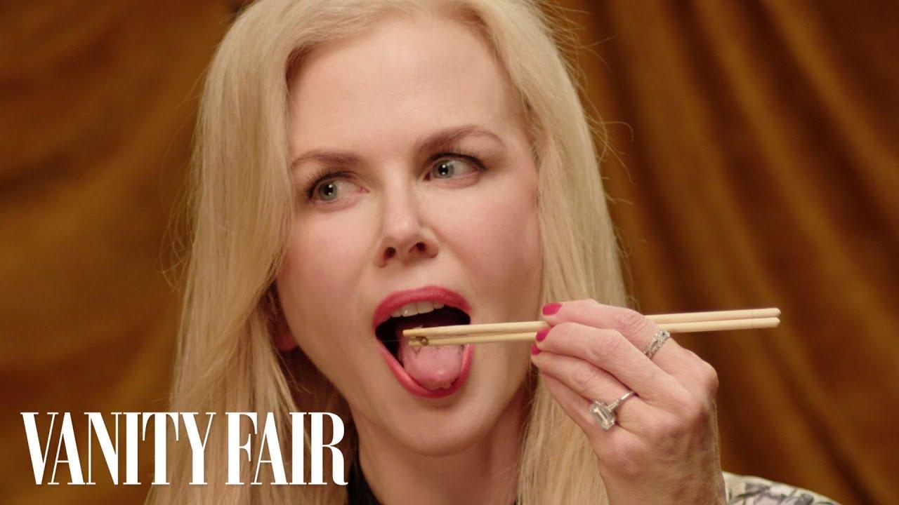 画像: Nicole Kidman Eats Bugs   Secret Talent Theatre   Vanity Fair www.youtube.com