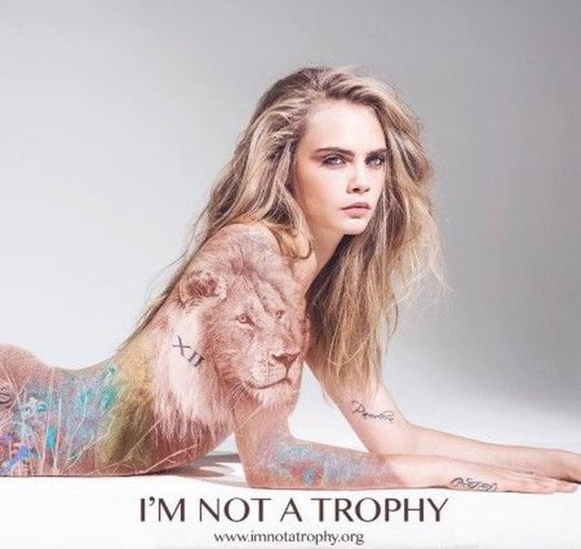 画像1: 野生動物の狩り「トロフィー・ハンティング」撲滅のために人気セレブがひと肌脱ぐ