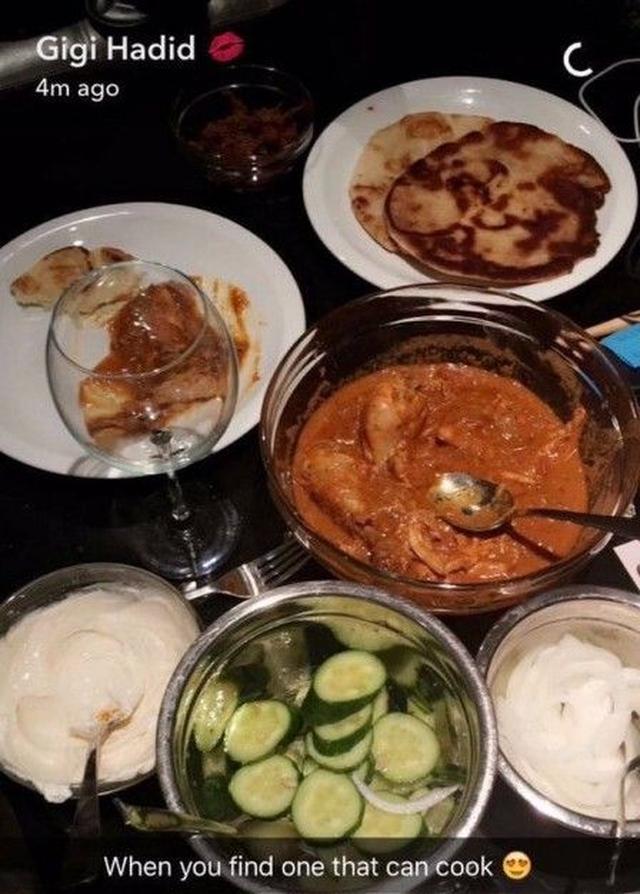 画像: ジジが公開したゼインの手料理。