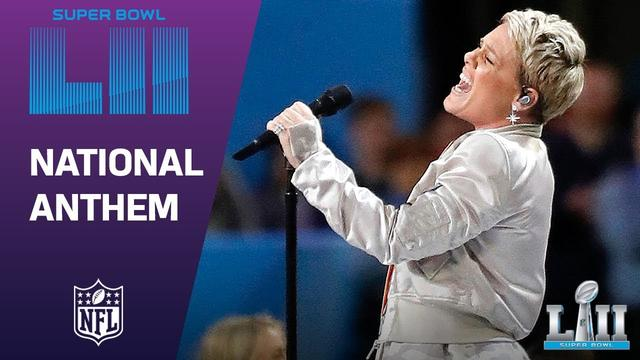 画像: Pink Belts Out the National Anthem! | Super Bowl LII NFL Pregame www.youtube.com