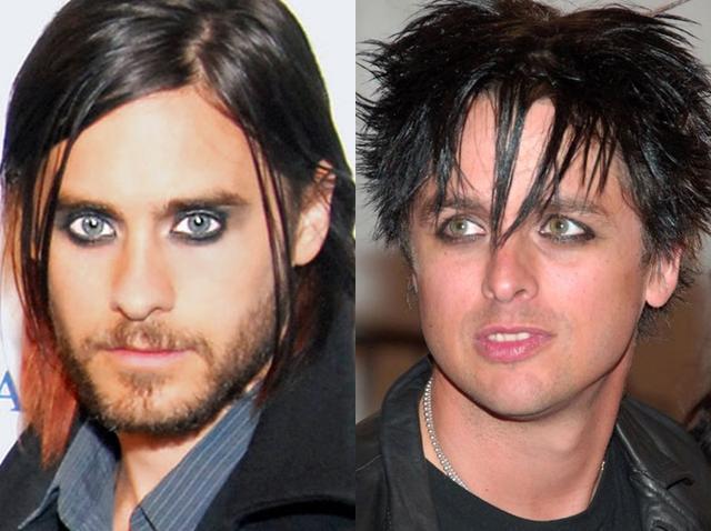 画像: 左:映画『スーサイド・スクワッド』の俳優でロック・バンド、サーティー・セカンズ・トゥー・マーズのボーカルとしても活動しているジャレッド・レト。右:ロックバンド、グリーン・デイのボーカル、ビリー・ジョー・アームストロング。