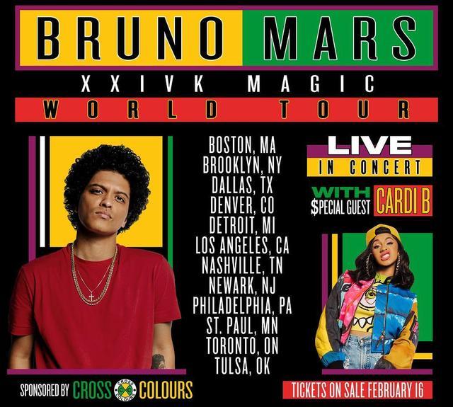 画像1: Bruno MarsさんはInstagramを利用しています:「The Finale.  #24kmagicworldtour」 www.instagram.com