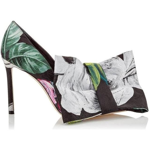 画像: Jimmy Choo X Off-White Floral Printed Chisel Toe Pumps