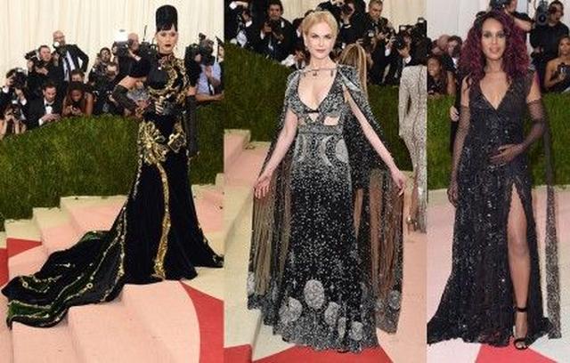 画像: 左から:ケイティ・ペリー<Prada>、ニコール・キッドマン<Alexander McQueen>、ケリー・ワシントン<Marc Jacobs>