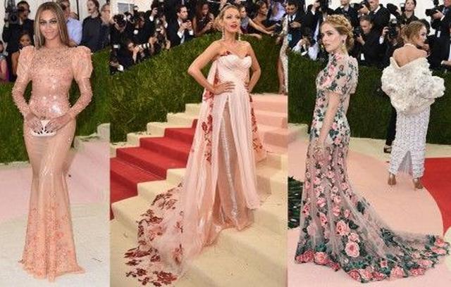 画像: 左から:ビヨンセ<Givenchy>、ブレイク・ライヴリー<Burberry>、ゾーイ・デューチ<Dolce and Gabbana>