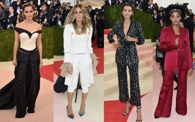 画像: 左から:エマ・ワトソン<Calvin Klein>、サラ・ジェシカ・パーカー<Monse>、アレクサ・チャン<Thakoon>、アマンドラ・ステンバーグ<Calvin Klein>