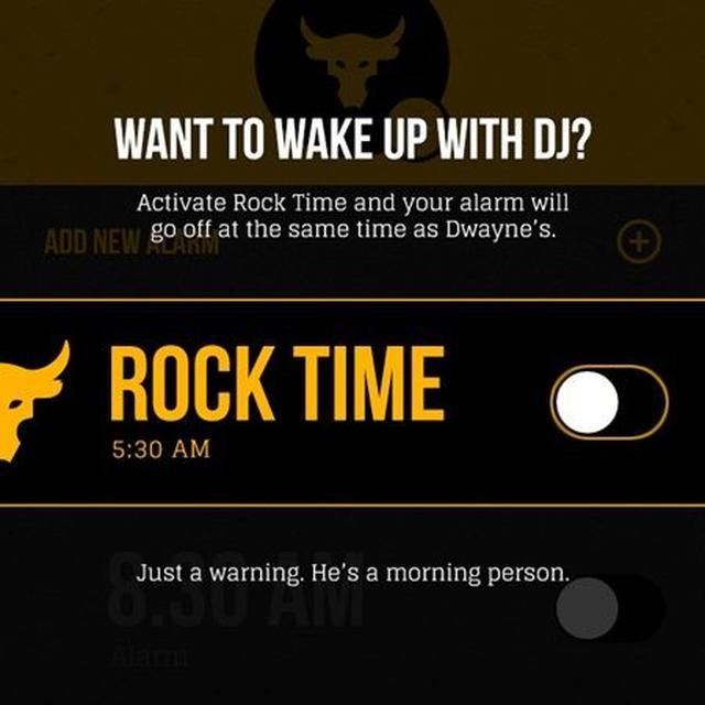 画像: ROCK TIMEのセッティング画面