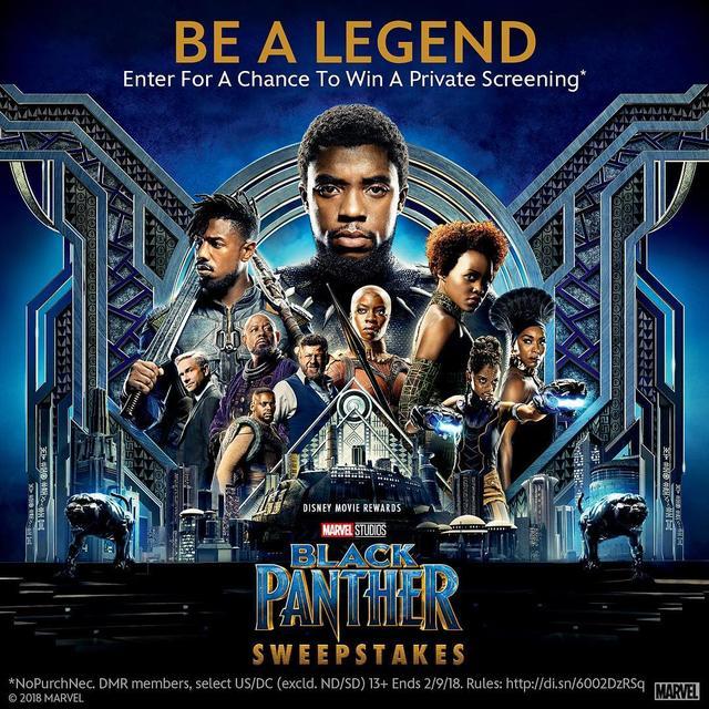 画像1: Black PantherさんはInstagramを利用しています:「Be a legend among 100 of your family and friends and enter at @DisneyMovies for a chance to win a private screening of Marvel Studios'…」 www.instagram.com
