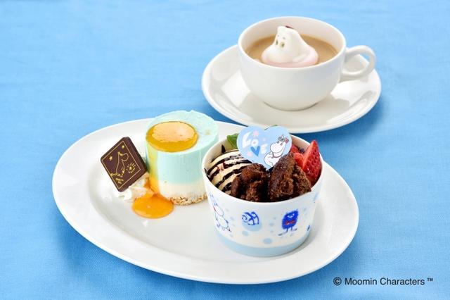 画像1: 「ムーミン」をモチーフにしたカフェが、ホワイトデーデザートを販売