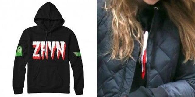 画像: ジャケットの下にロゴがちら見え。