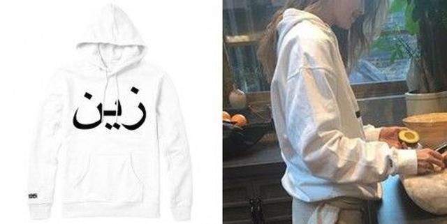 画像: 右そでの刺繍と、正面のロゴがちらりと見える。
