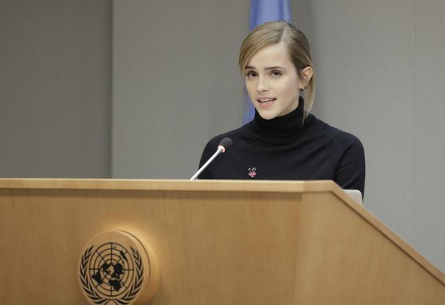 画像: 国連でスピーチを行うエマ。