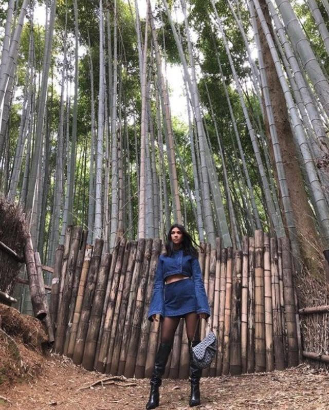 画像: コートニーは竹林でフォトジェニックな写真を撮影。 www.instagram.com