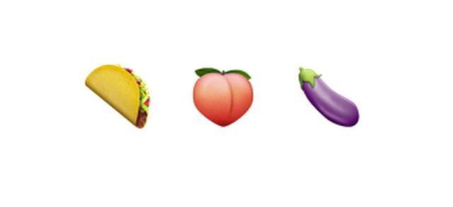 画像: ナス、桃、タコスが示すのは体のある部分
