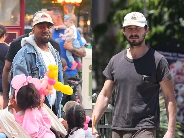 画像: 2014年にシャイア(右)が着用していたキャップ帽をカニエ(左)が2017年に着用。