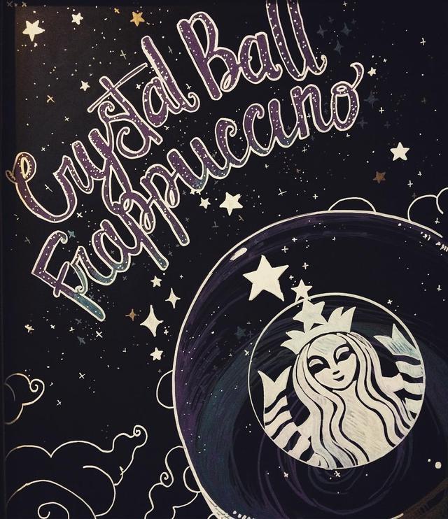 画像1: MissyさんはInstagramを利用しています:「My contribution. ✨ #tobeapartner #starbuckspartners #starbucks #crystalballfrappuccino #chalkmarker」 www.instagram.com
