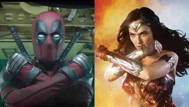 画像: 左が『デッドプール』、右が『ワンダーウーマン』。