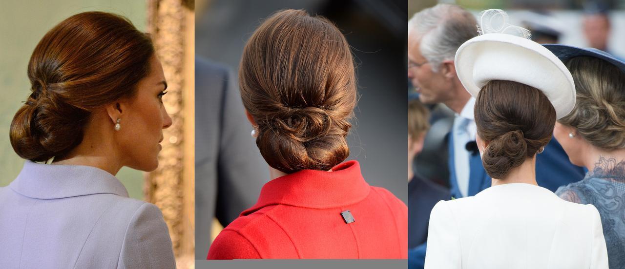 画像: さまざまなシーンでヘアネットを使用しているキャサリン妃。
