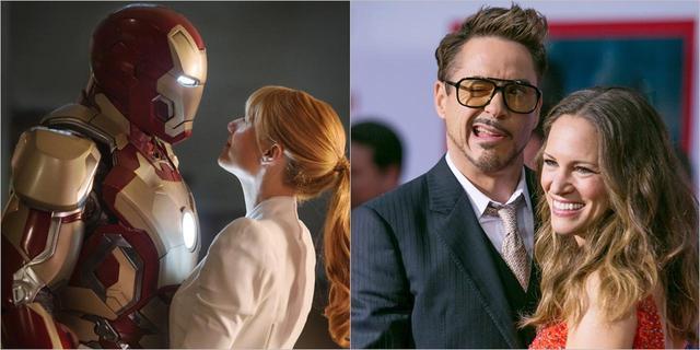 画像: (左)ペッパーはトニーの最愛の人。©2013 Marvel/(右)ロバートは妻の名前のタトゥーまで入れている愛妻家。