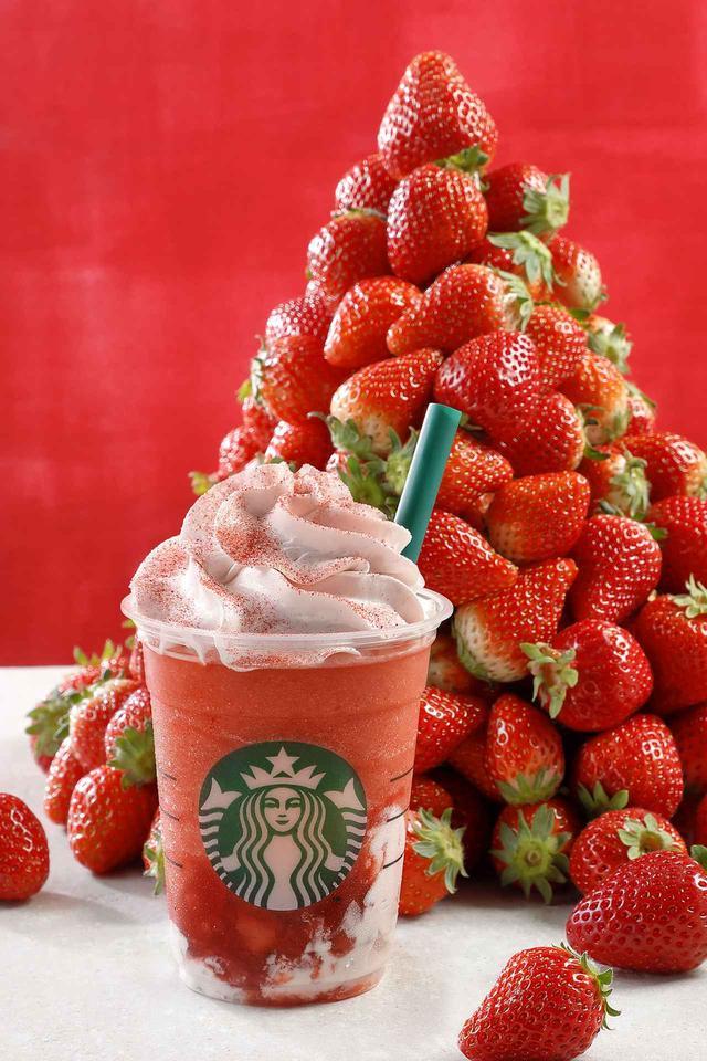画像1: スターバックス史上最高の「イチゴすぎる」フラペチーノが美味しそう