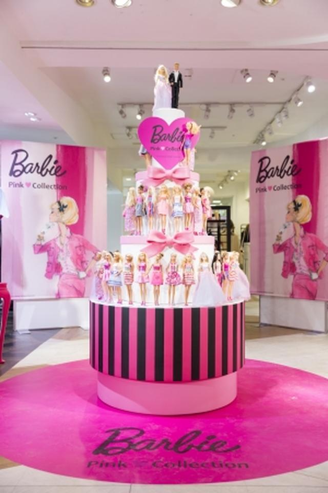 画像1: バービーがケーキタワーに59体並ぶ!バービーピンク♥コレクション開催