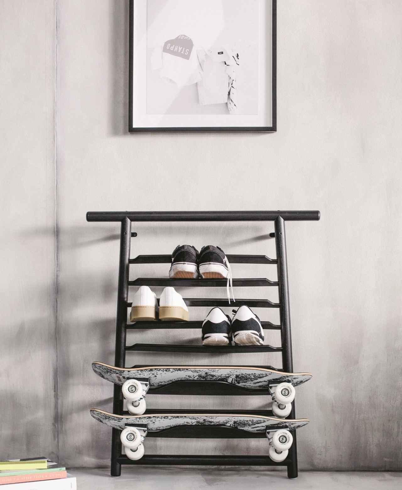 画像: SPÄNST/スペンスト 靴/スケートボード ラック ブラック ¥12,990